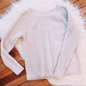 cozy cream cable knit sweater